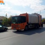 Нов модел сметосъбирачна машина забелязахме в Благоевград